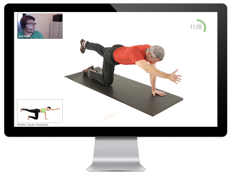 Physical Therapist Monitoring Telehealth Patients